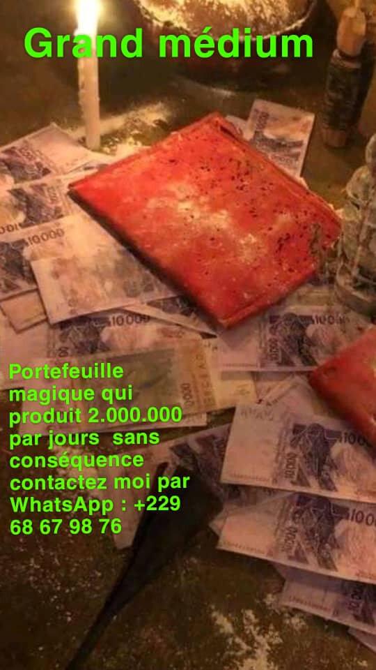 PORTEFEUILLE MAGIQUE DU GRAND MAITRE LOKO KABIESSI QUI PRODUIT DEUX MILLIONS PAR JOUR marabout du portefeuille magique