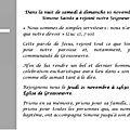 Obsèques de simone sainte le 21/11/2019 à 14h30, eglise de grossoeuvre
