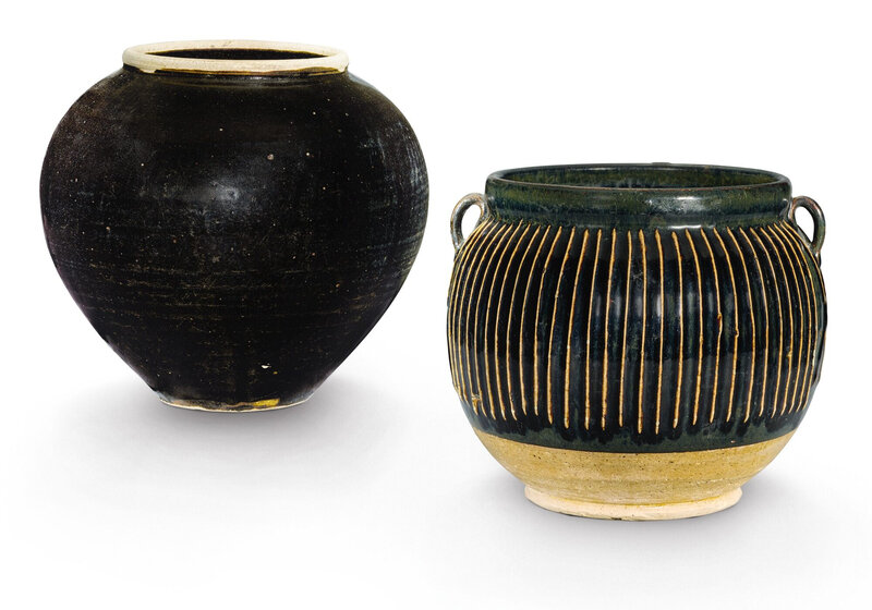 Two Henan black-glazed jars, Song dynasty (960-1279)