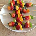 brochettes fruits frais