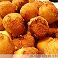 Croquettes serrano-fromage-poulet sans farine