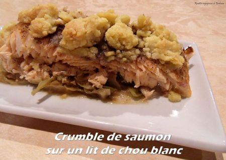 Crumble de saumon surun lit de chou blanc1