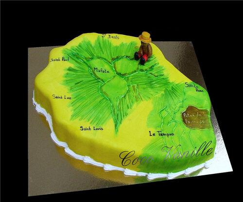Gâteau ILE DE LA REUNION