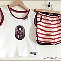 09-short rayé rouge et tee-shirt Gorjuss9