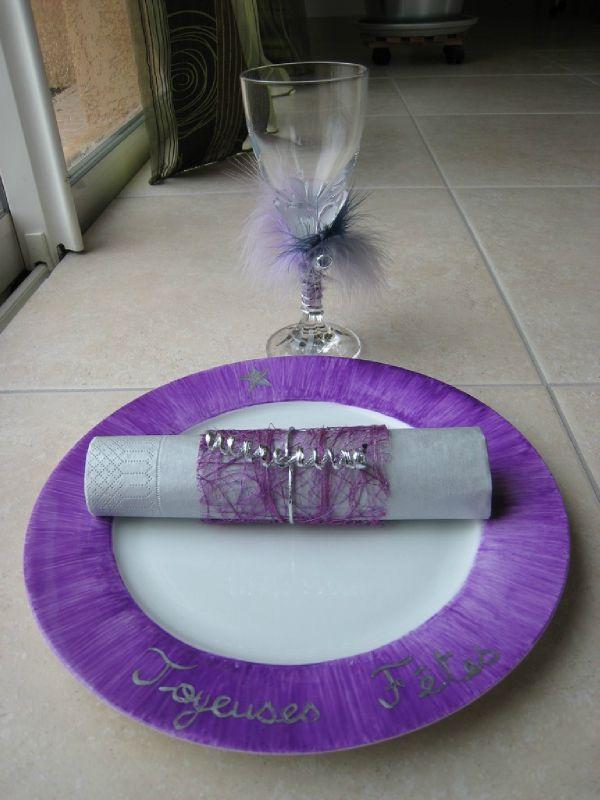 Violet et argent