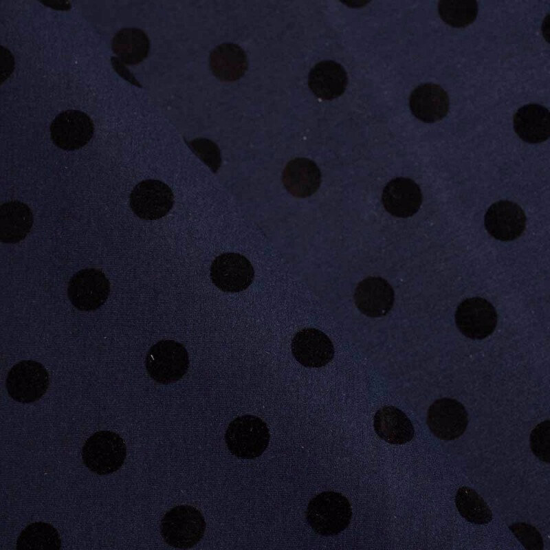tissu-neoprene-alveole-leger-a-pois-feutrine-noir-bleu-de-minuit-x-10-cm