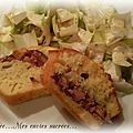 Cake normand andouille camembert