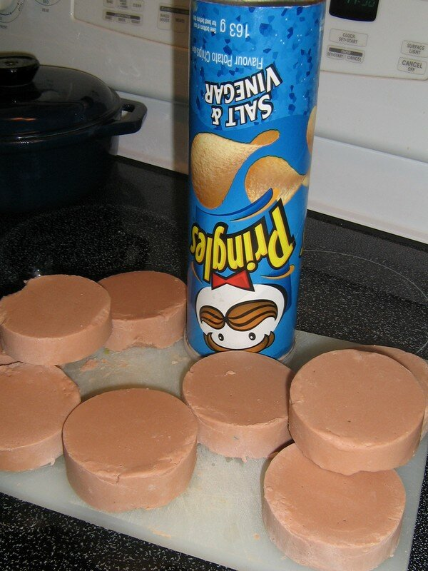 Rond, Pringles chips