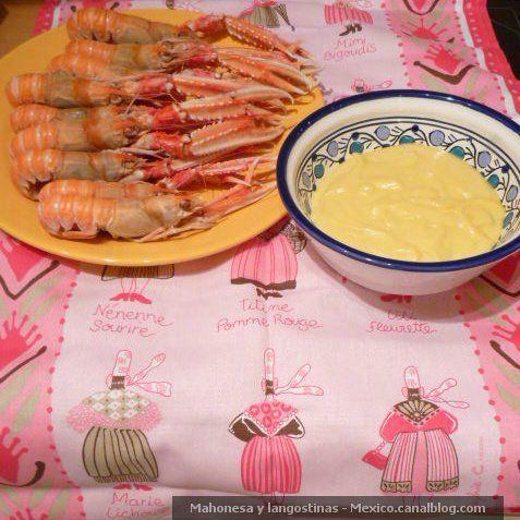 Langoustines Salsa Mahonesa y langostinas - Prawns - Cuttlefish