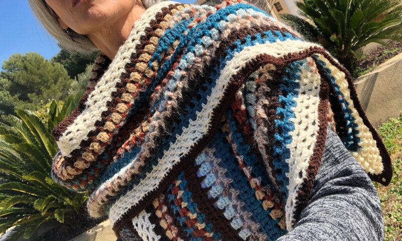 étole multicolore-crochet- La chouette bricole (10)