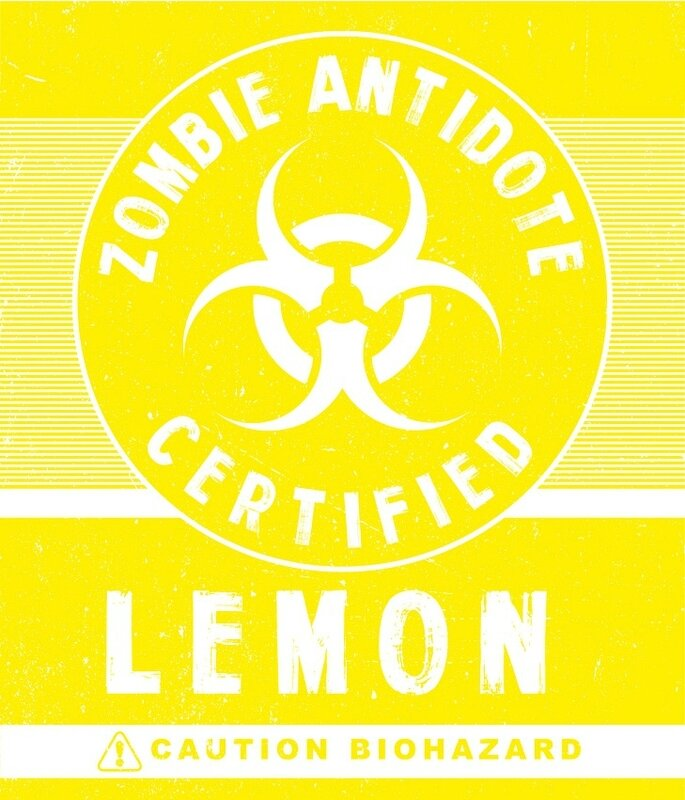 antivirus zombie lemon Label Halloween Zombie Biohazard (2)