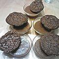 Cookies 3 choco et mousse chocolat-carambar