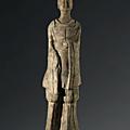 Personnage debout, chine, époque des wei, 6° siècle