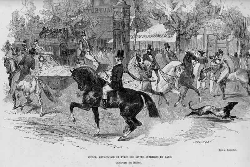 Boulevard des Italiens, E. Morin, 1860.