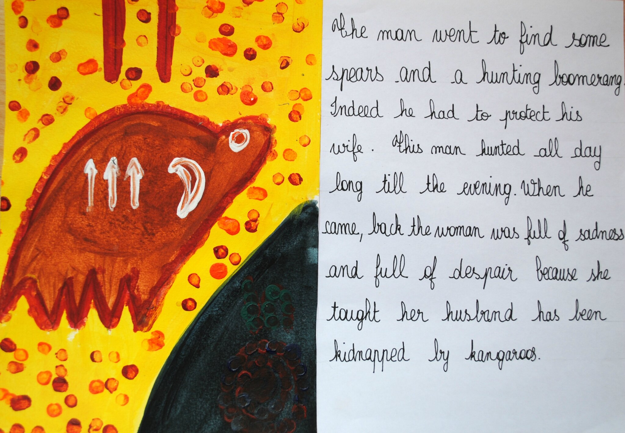 Different Steps To Story Writing And Painting Creation Aboriginal Symbols Story Writing And Painting By The 4 Anglais Plus