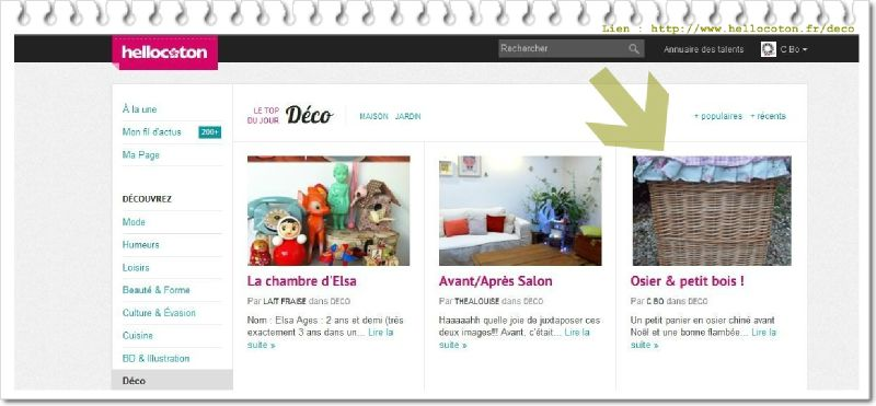Hellocoton top blog du 6-1-12