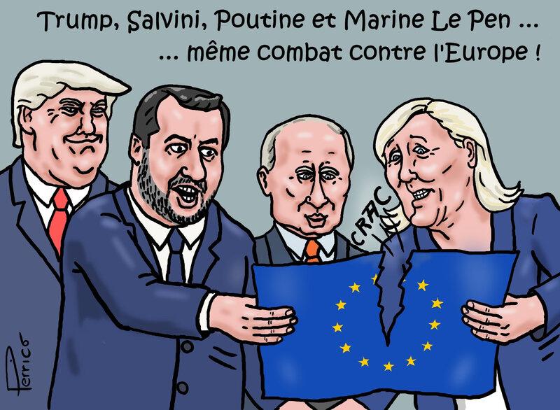 Trump, Salvini, Poutine, Marine contre l'Europe 22 mai 2019