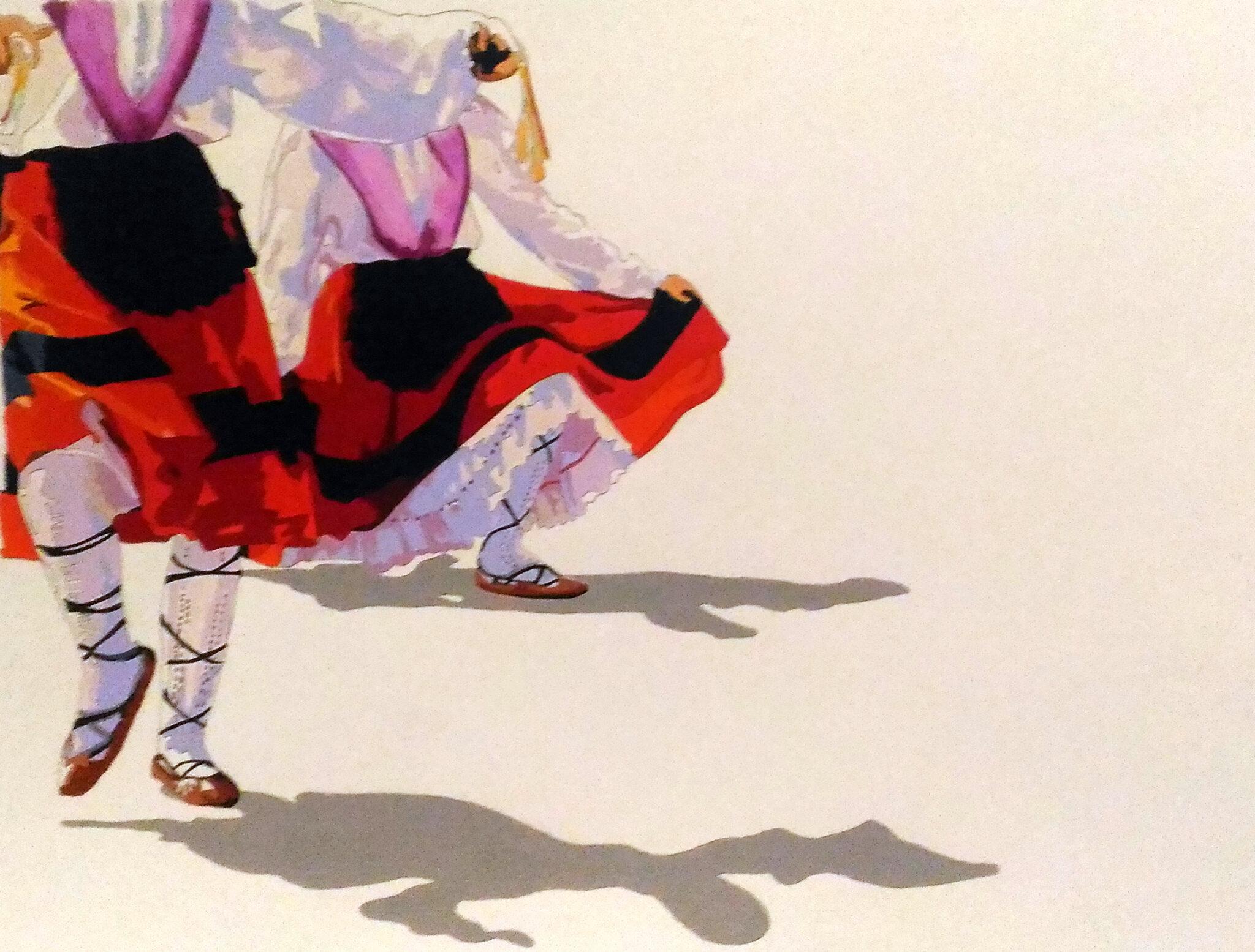 Dantza 2, mixte sur papier 70x50 cm