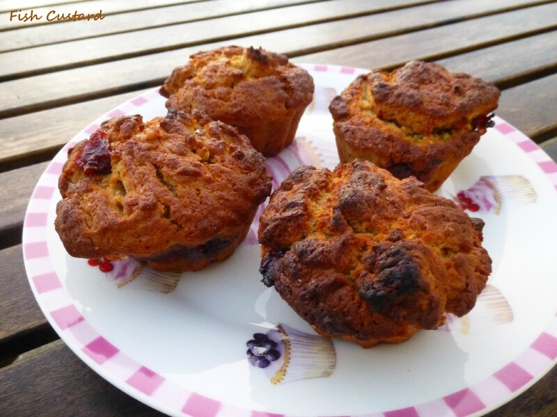 Peanut Butter & Jelly Muffins (4)