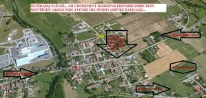 Plan accès Vide-Greniers 7 juillet 2013