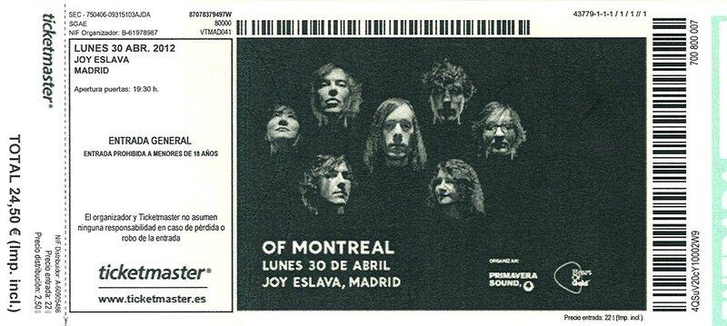 2012 04 Of Montreal Joy Eslava Billet