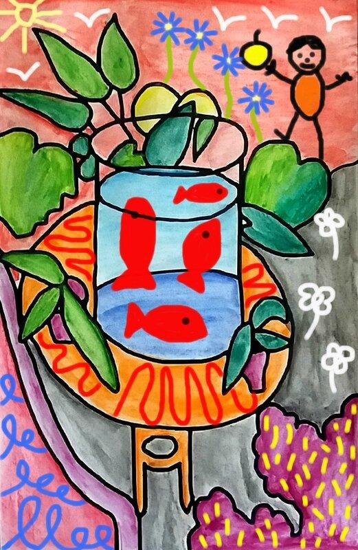 253_Compositions abstraites_Les poissons de Matisse (24 d2)