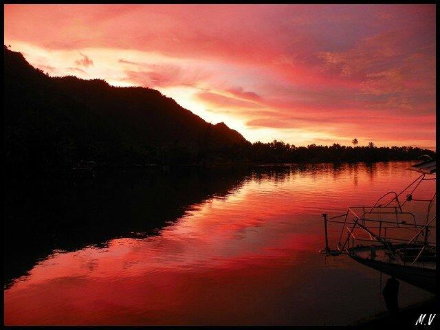 Sunrise on Teahupoo