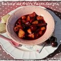 Salade de fruits façon sangria.