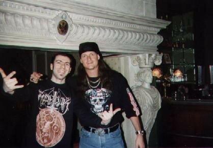 John SCHAFFER (guitares) d'ICED EARTH en 2001 à Paris