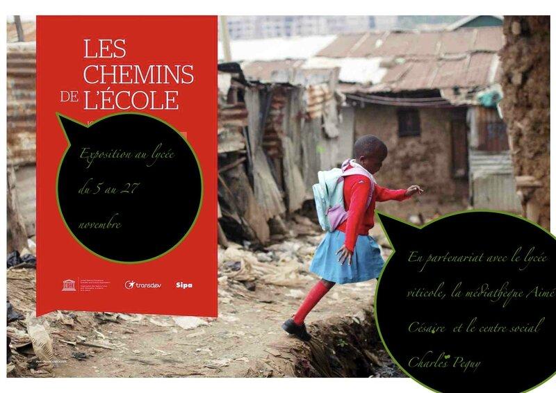 Affiche exposition _les chemins de l'école_ Palais de l'UNESCO