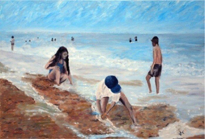 2007-Jeux de plage -55x38-