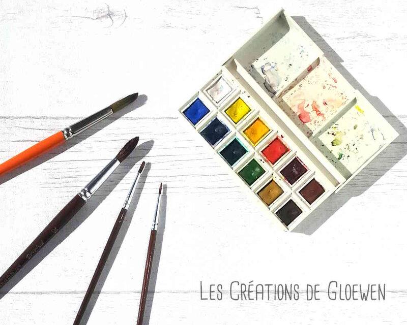 Aquarelle pour débutant : Palette 12 couleurs fines Winsor&Newton
