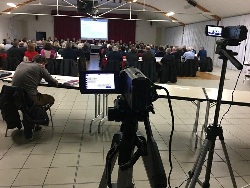 conseil de communauté d'agglomération Mont-Saint-Michel Normandie Isigny-le-Buat 30_01_2017 camescope vidéo conseil