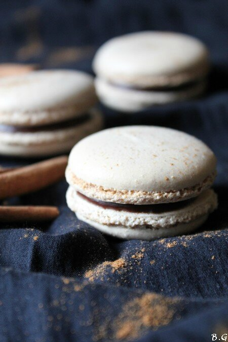 Macarons chocolat cannelle -bouilles gourmandes