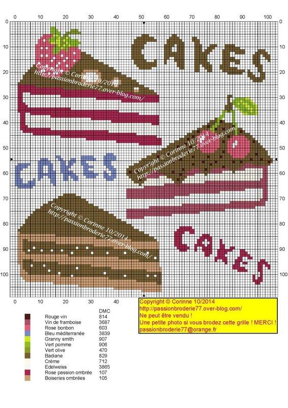 3 parts de gâteau