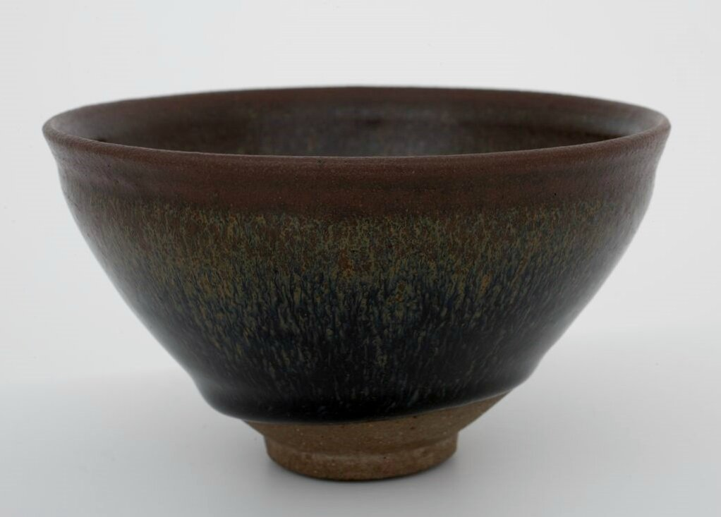 Tea Bowl with Indented Lip and Golden Brown Hare's-Fur Markings, Song dynasty, 12th-13th century