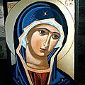 novembre 2016, vierge bleue, 18X24 cm, collection privée.