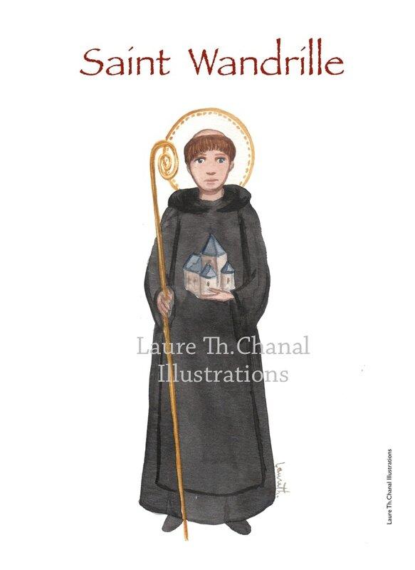 saint Wandrille de Fontenelle, abbé