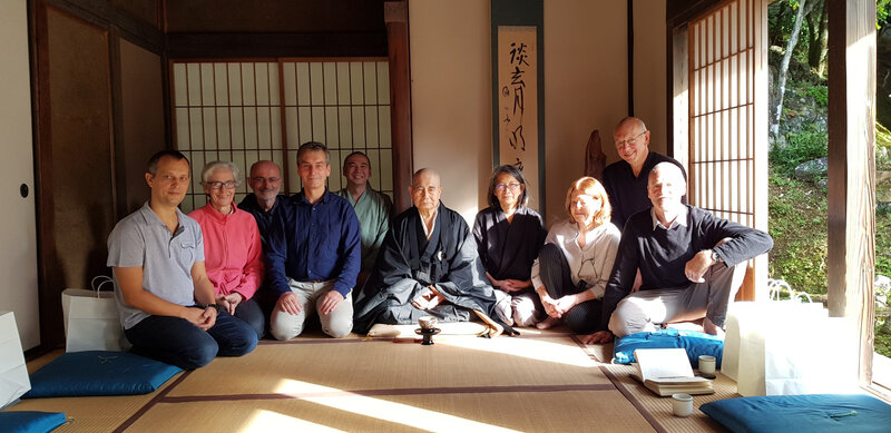 Groupe du centre Assise au Ryutaku-ji, 2018