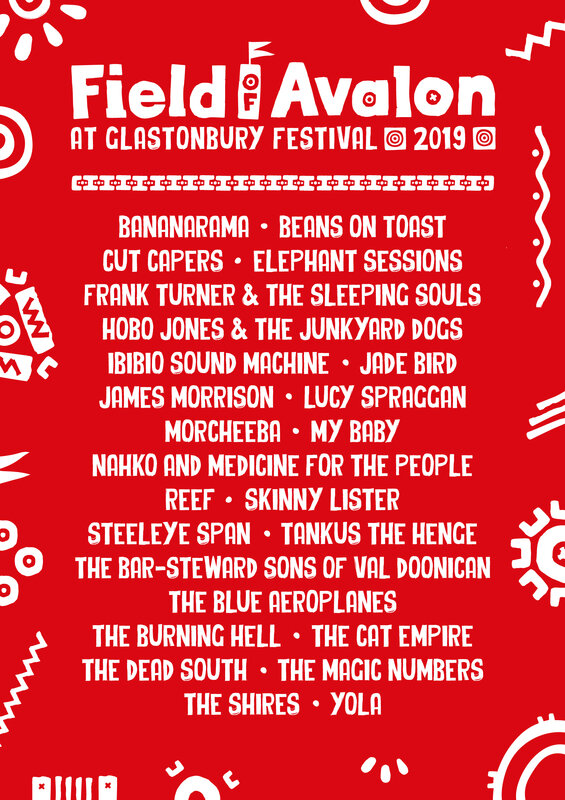 Glastonbury_festival_2019_Field of Avalon_line-up_programmation_poster_affiche