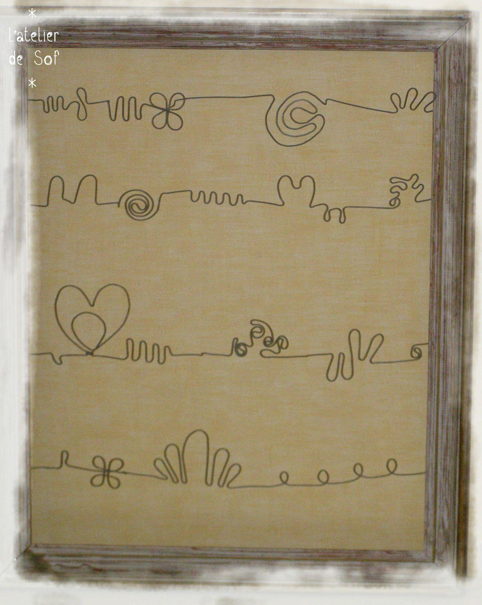 grand cadre porte bijoux fil de fer - photo de du fil de fer et des