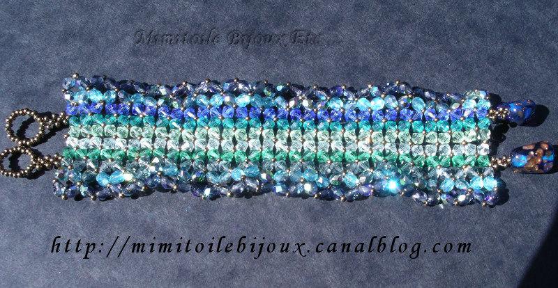 Bracelet dégradé de bleu et vert