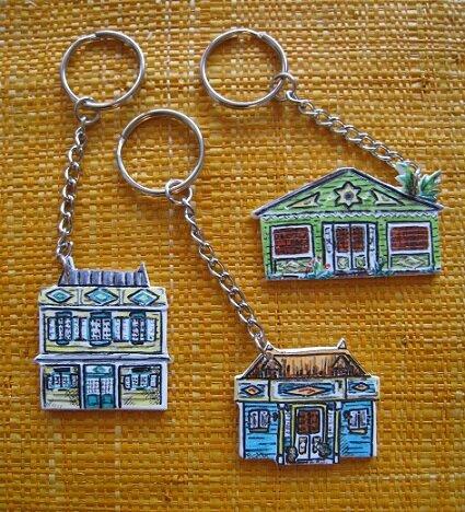 porte clefs maisons créoles