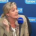 Marine le pen sur europe 1 le 05/11/2014