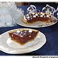 Tarte de noël chocolat-marrons
