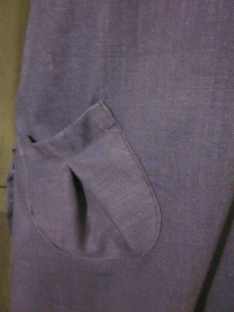 Robe CELESTE en lin bleu (3)