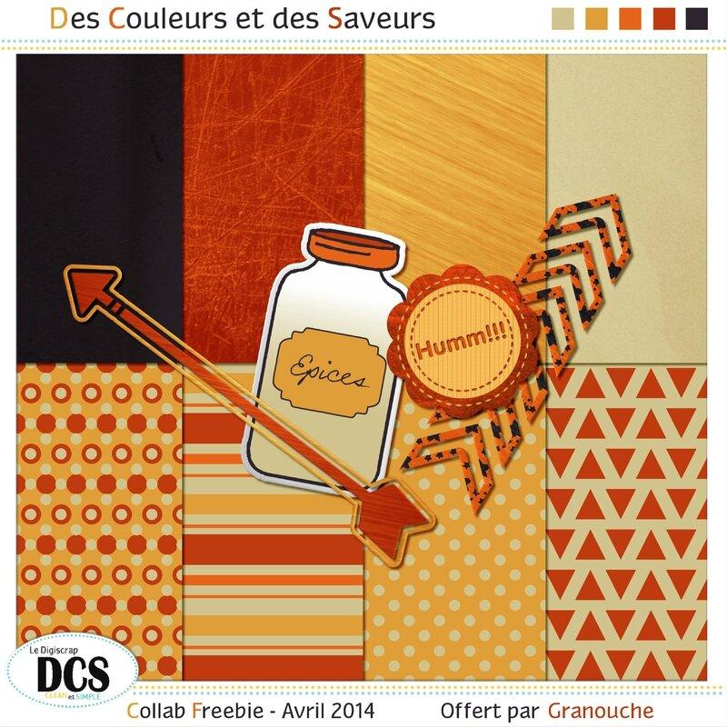 Dcs - Des couleurs et des saveurs - GranouchePV