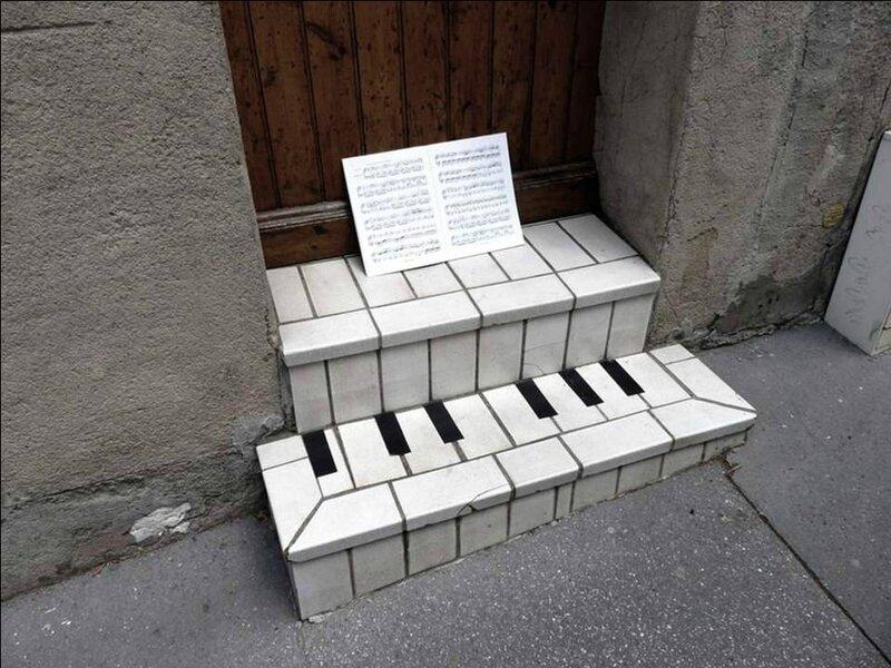 marche escalier note musique