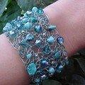 Un bracelet crocheté