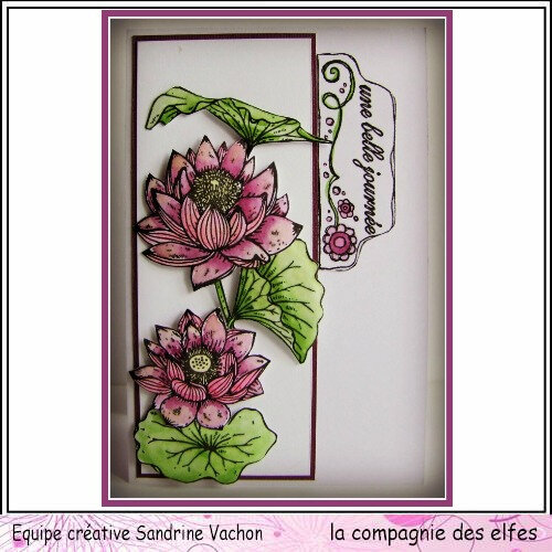 Carte fleurie UNE BELLE JOURNEE dt LCDE (1)